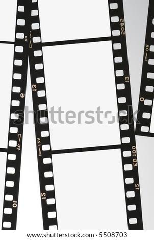 Film strip negative background panel 35mm series 02 - stock photo