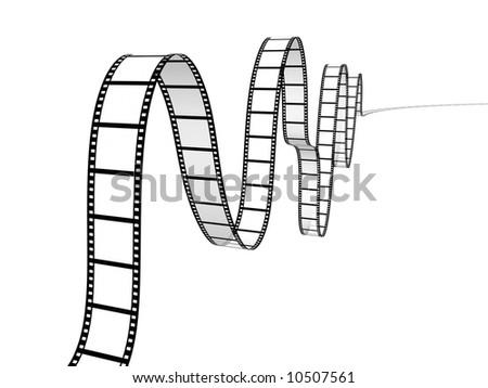 film strip on white background - stock photo