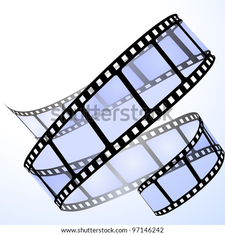Film strip. Raster version of the vector illustration - stock photo