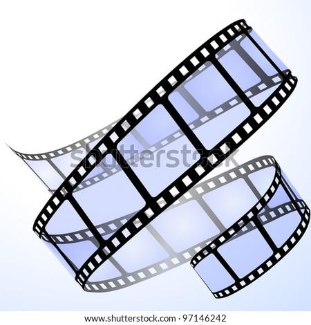 Film strip. Raster version of the vector illustration - stock photo