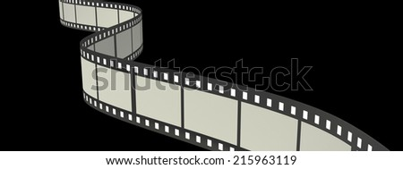 film strip. realistic. isolated on black background. 3d illustration