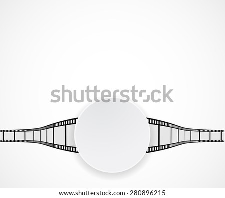 film strip roll banner background - stock photo