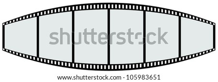 film strip shape like teeth - stock photo