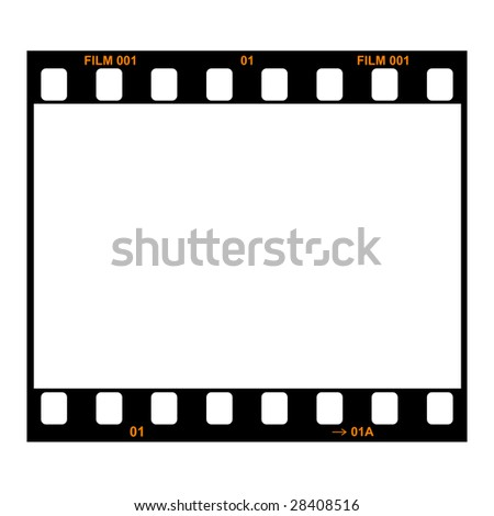 Film strip, single frame - stock photo