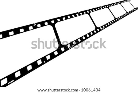 Film strip with blank frames. - stock photo