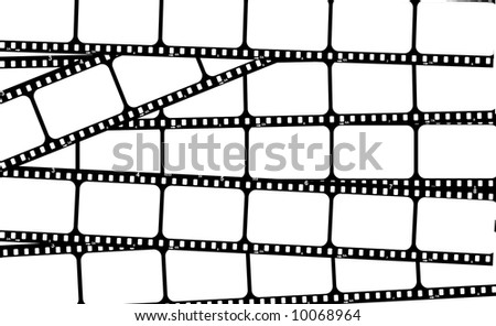 Film strip with blank frames to put your images there - stock photo