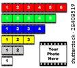 Film strips - stock photo