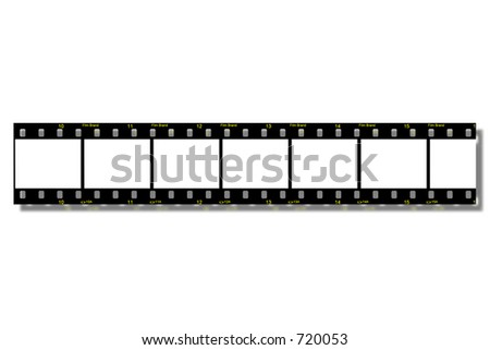 Film Strips - With Clipping Path