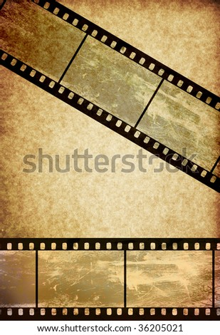 film tape on vintage old paper background - more available - stock photo