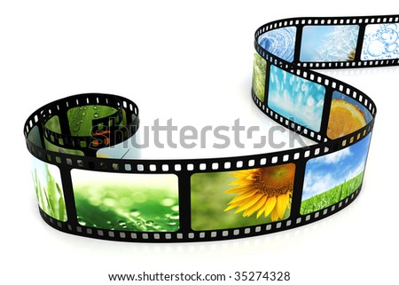 Film with images - stock photo