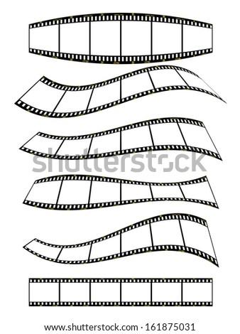 filmstrip banner - set2 - stock photo
