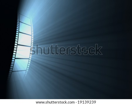 Filmstrip. Concept of industry cinematographic. - stock photo