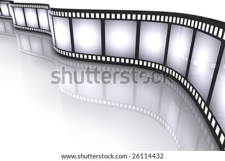 Filmstrip. Concept of Industry cinematographic.