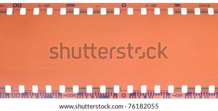 filmstrip isolated on white background - stock photo