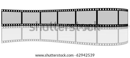 Filmstrip on white background - stock photo