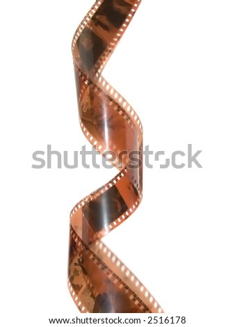 Filmstrip roll on white background. - stock photo