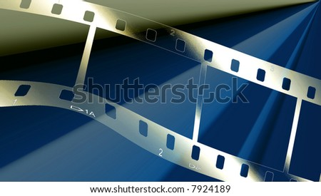 Filmstrip Wave On Blue