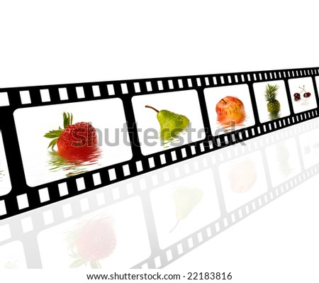 Filmstrip with fruits