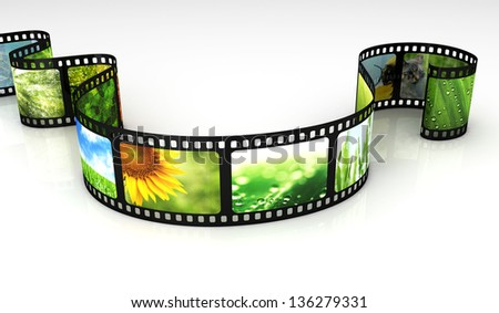 Filmstrip with images - stock photo