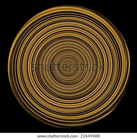Filtered traces of street  illumination, designed as a concentrated circles. - stock photo