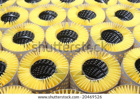 Filters for cleaning air or oil - stock photo