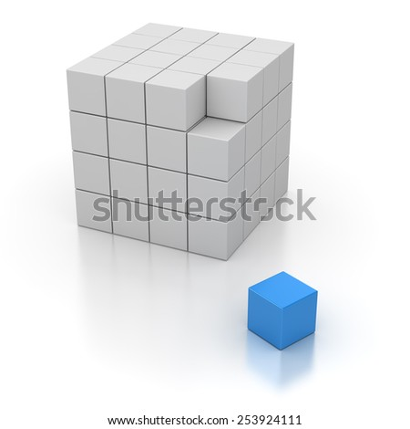 Final Cube , computer generated image. 3d rendered image.