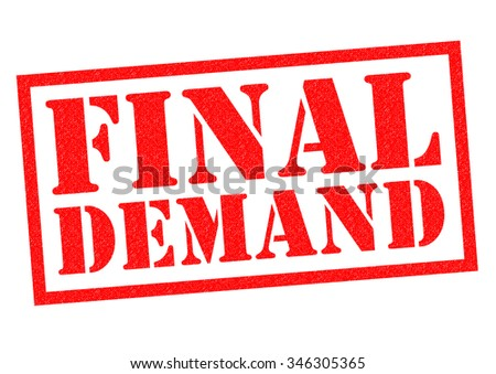 FINAL DEMAND red Rubber Stamp over a white background. - stock photo
