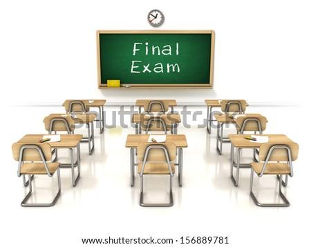 final exam 3d illustration - stock photo