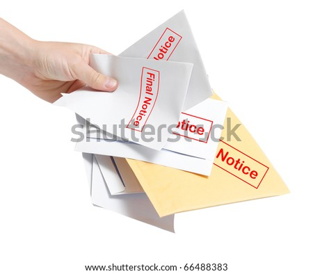 Final notice bills - stock photo