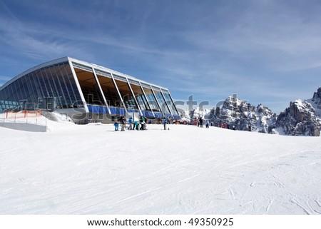 "Final station of ""Olympiabahn""  in ""Axamer Lizum"" - stock photo"