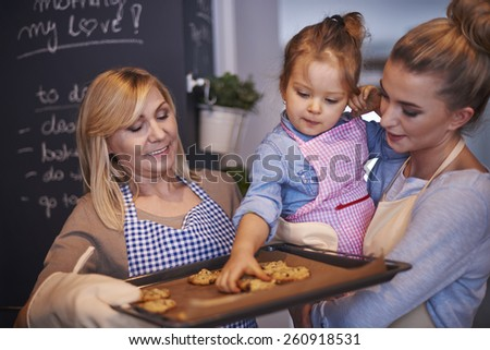 Finally our cookies are ready for eat - stock photo