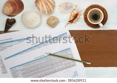 Finance and accounting business, business planing, accounting - stock photo