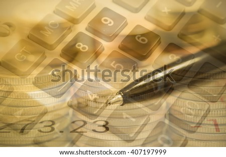 Finance and Banking concept for background. - stock photo