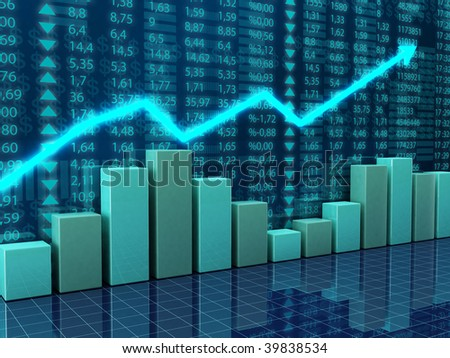 finance and economy charts - stock photo