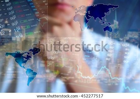 Finance background business collage abstract light imagen de archivo finance background business collage abstract light finance background businessman world map gumiabroncs Gallery