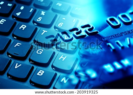 Finance background with credit card  - stock photo