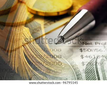 Finance background with money. - stock photo