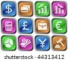 Finance buttons (raster version) - stock photo