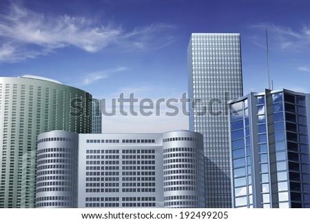Finance Center - stock photo