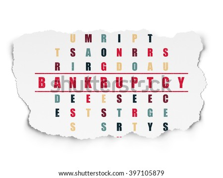 Finance concept: Bankruptcy in Crossword Puzzle - stock photo
