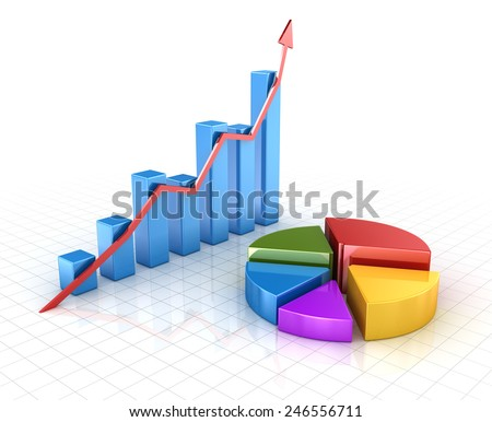 Finance concept , computer generated image. 3d rendered image. - stock photo