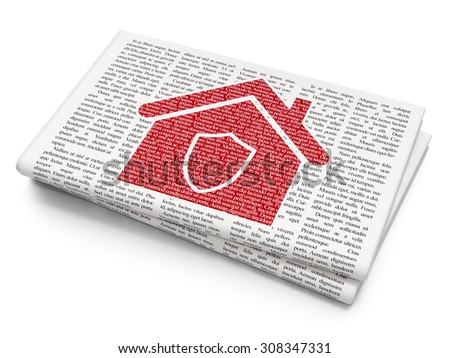 Finance concept: Home on Newspaper background - stock photo