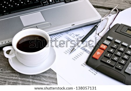 Finance concept, office objects - stock photo