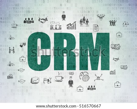 Finance Concept Painted Green Text Crm Stock Illustration 516570667