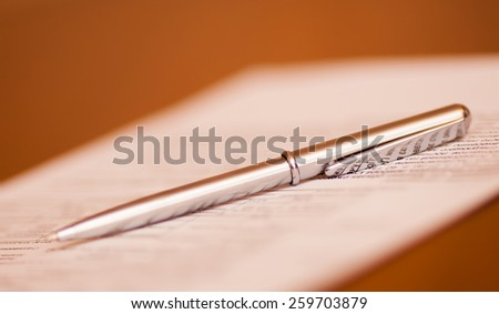 finance contract - stock photo