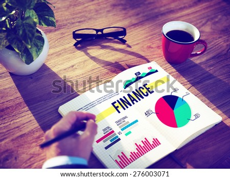 Finance Currency Banking Budget Business Marketing Concept - stock photo