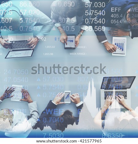 Finance Currency Banking Market Trade Concept - stock photo