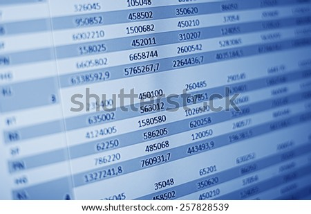 finance data - stock photo