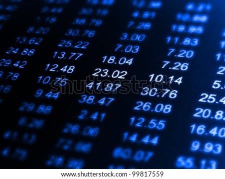 Finance data background. Macro image. - stock photo