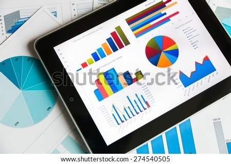Finance, Data, crm. - stock photo
